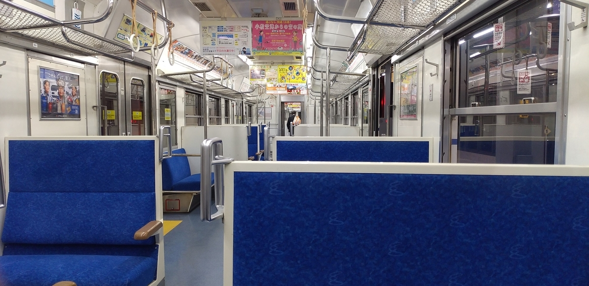 電車の車内(イメージ)