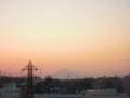 [夕焼け][富士山]