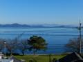晴天の琵琶湖