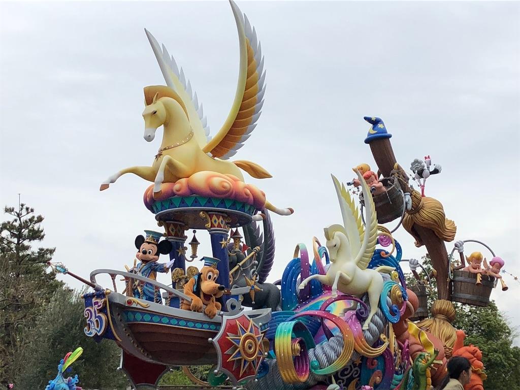 ディズニーランド 35周年の新しいパレード ドリーミング・アップを見