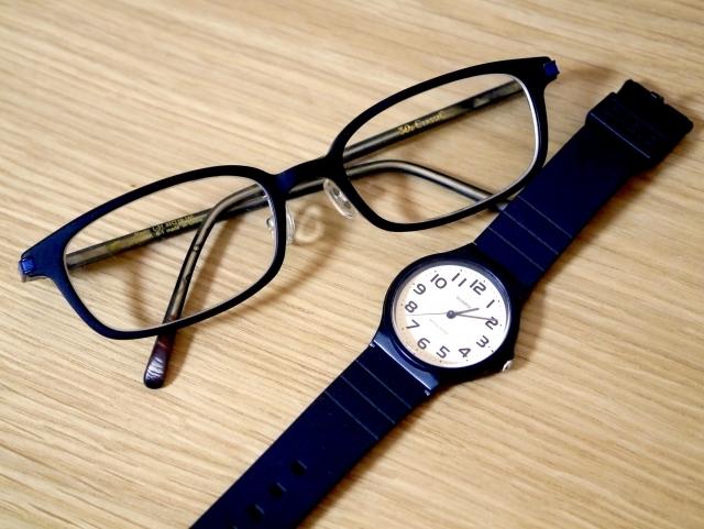 眼鏡と時計