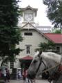 時計台と馬車