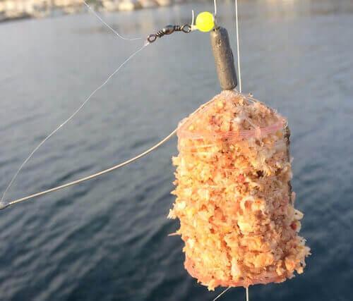 ライトカゴ釣りでメクリアジ