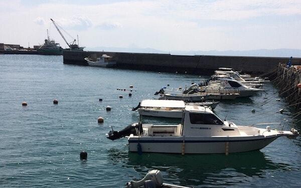 古江港で釣り