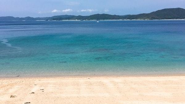 綺麗な倉崎ビーチ