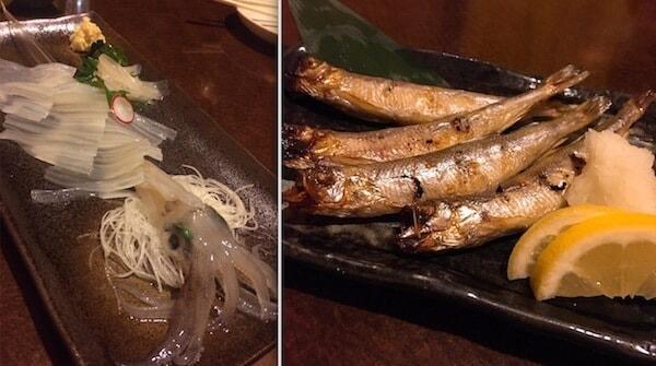 ろばた函館山のイカ刺し