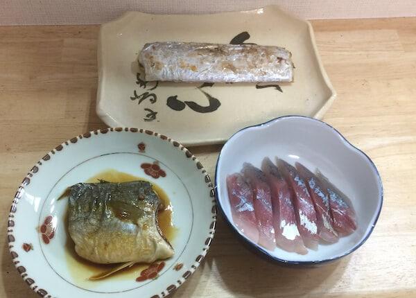 釣れた太刀魚とツバスで夕食