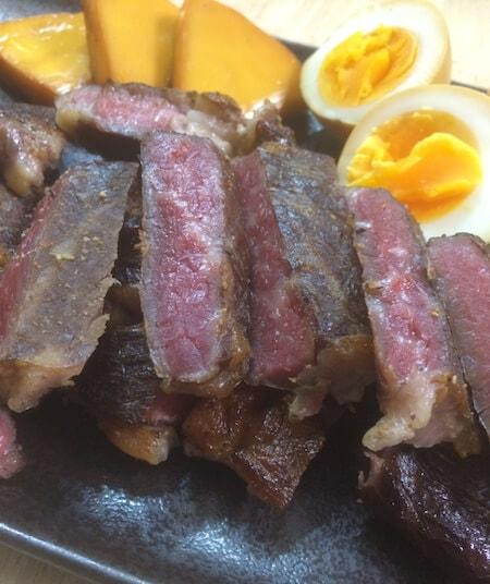燻製ステーキ完成写真