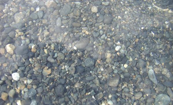 若狭湾の綺麗な海水