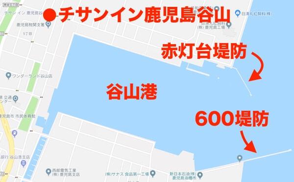 谷山港:釣りポイント