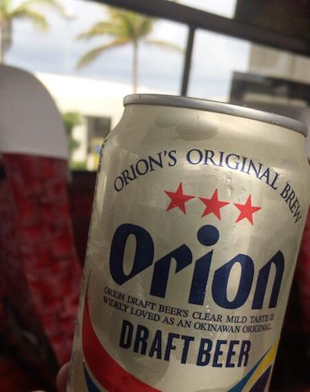 石垣島でオリオンビール