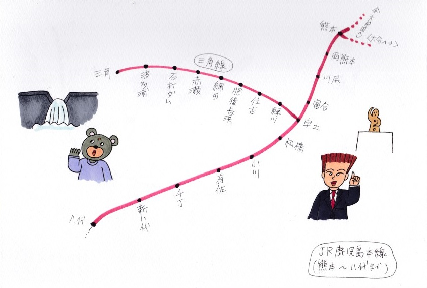 JR鹿児島本線(その6) - 旅とグルメと地図日和~梅の実学園・愛 LOVE ...