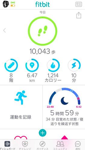 Fitbit アプリ画面