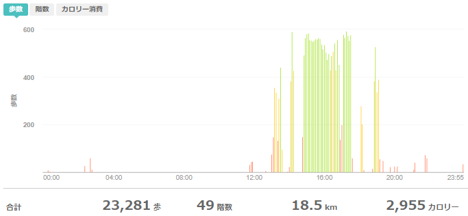 fitbitログより 運動データ2020年5月3日分