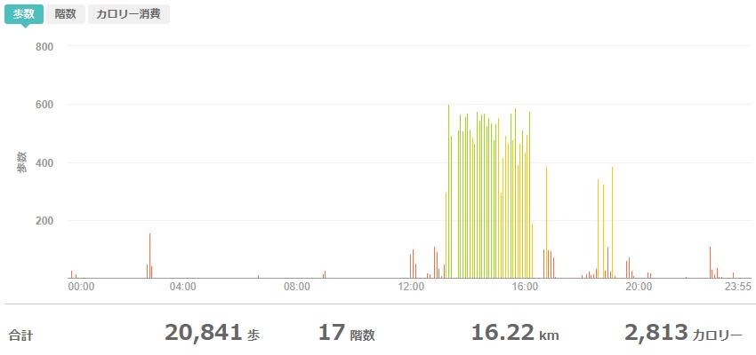 fitbitログより 運動データ2020年5月6日分