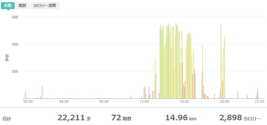 fitbitログより 運動データ2020年5月10日