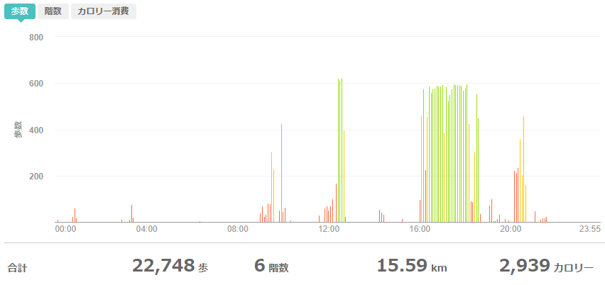 fitbitログより 運動データ2020年5月26日分