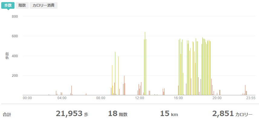 fitbitログより 運動データ2020年5月27日分