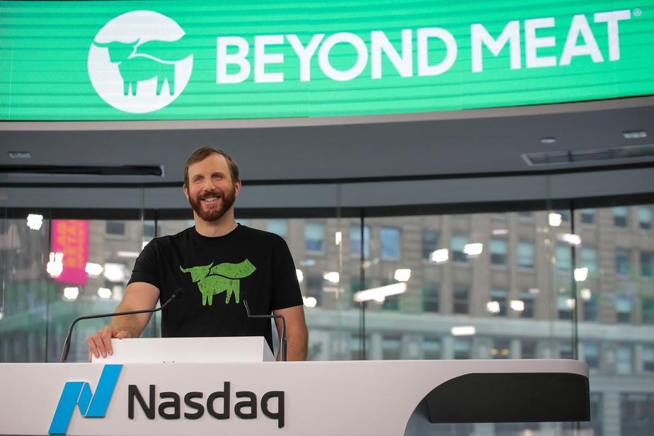 PHOTO BRENDAN MCDERMID, REUTERS  Ethan Brown, président et fondateur de Beyond Meat.