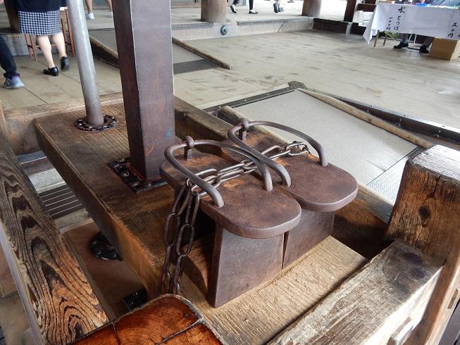 清水寺:弁慶の鉄下駄のご利益