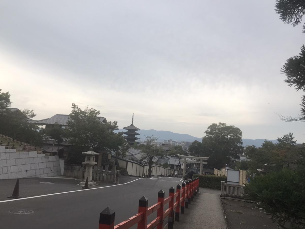 参道:高台にあるため京都市が見渡せます。
