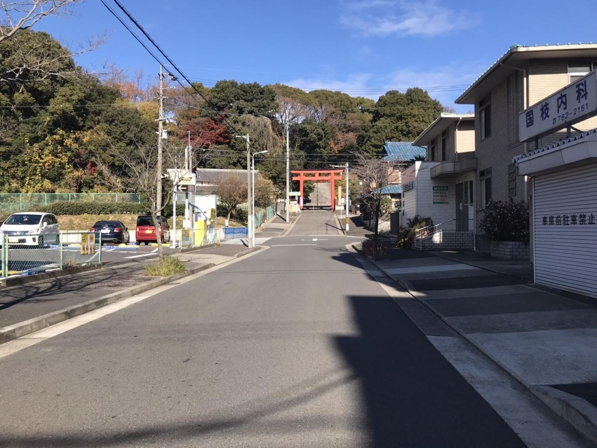 城山八幡宮(名古屋)参道:ここから登っていきます。