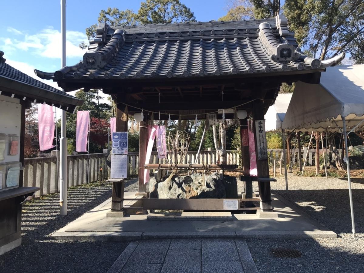 城山八幡宮(名古屋)の手水舎(てみずや)