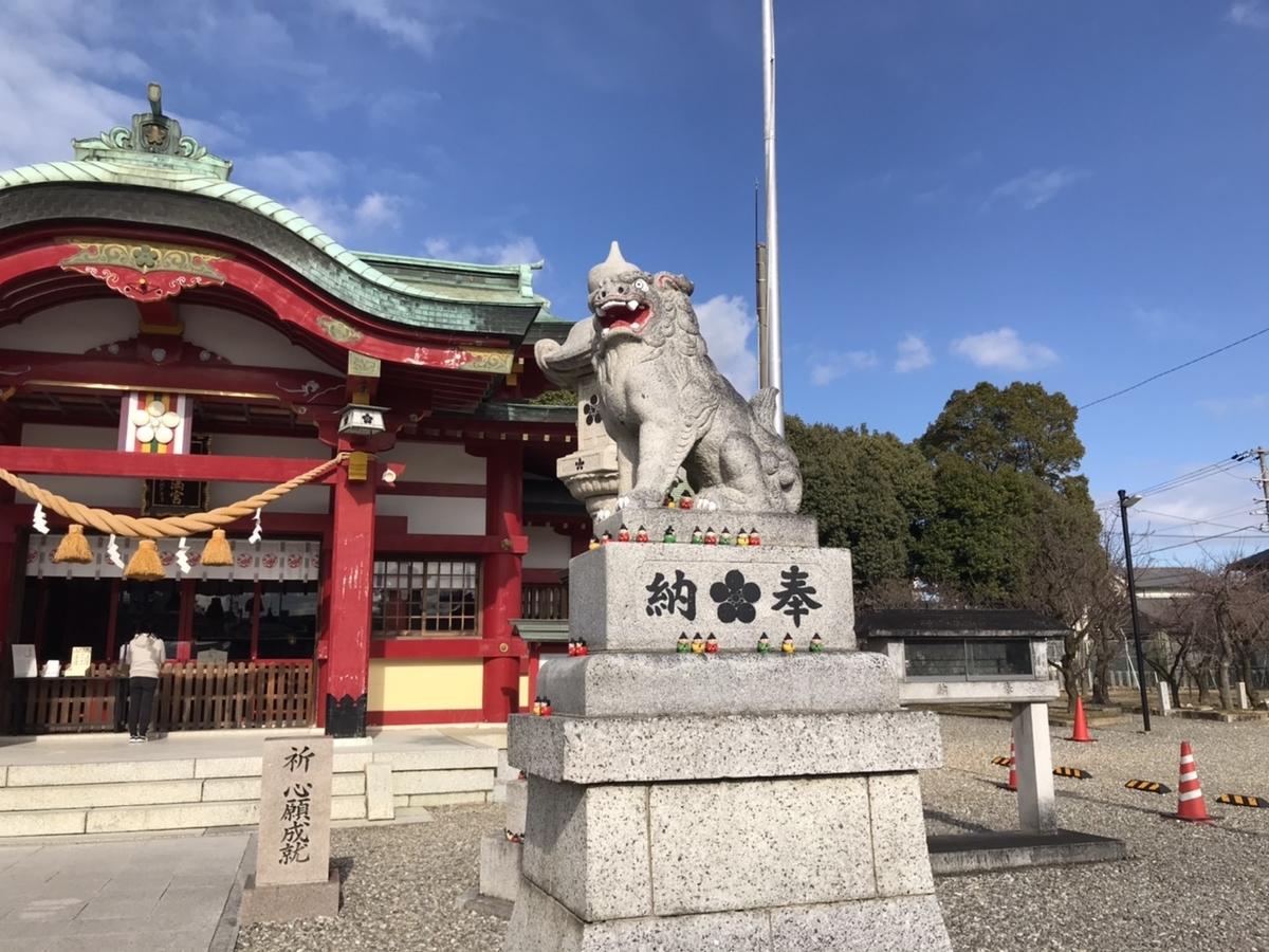 上野天満宮(名古屋天神)の狛犬 右