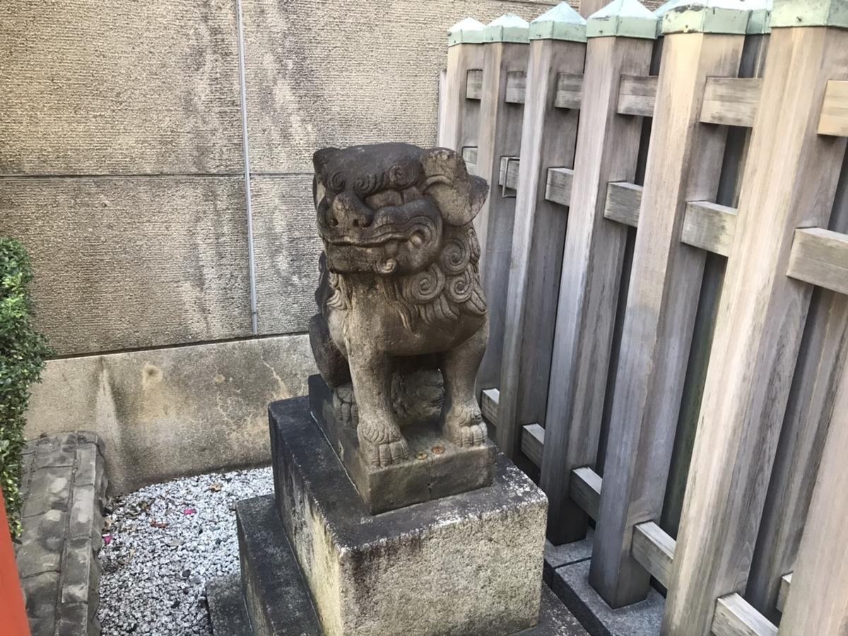 桜天神社(名古屋)の狛犬 左