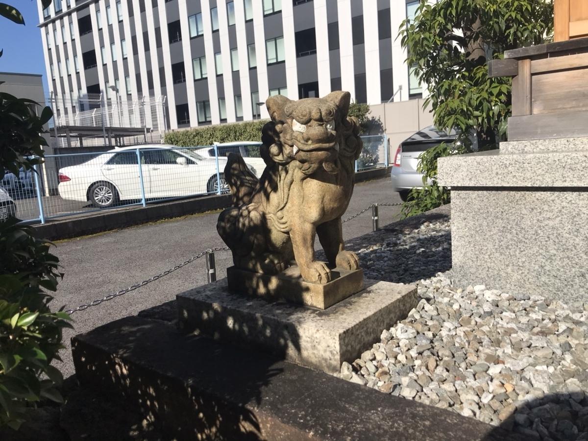 少彦名神社(名古屋)の狛犬 左