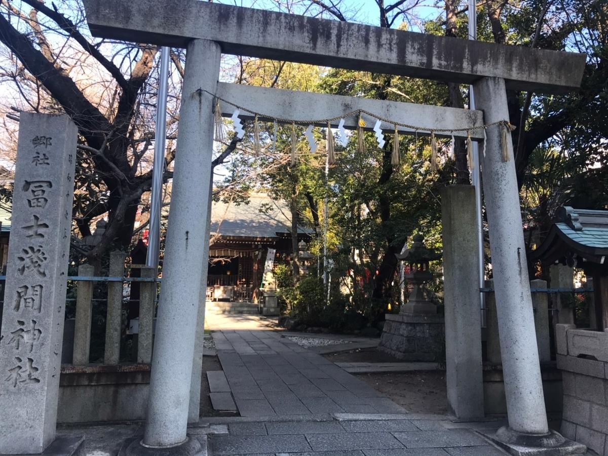 冨士浅間神社(名古屋市西区)の鳥居