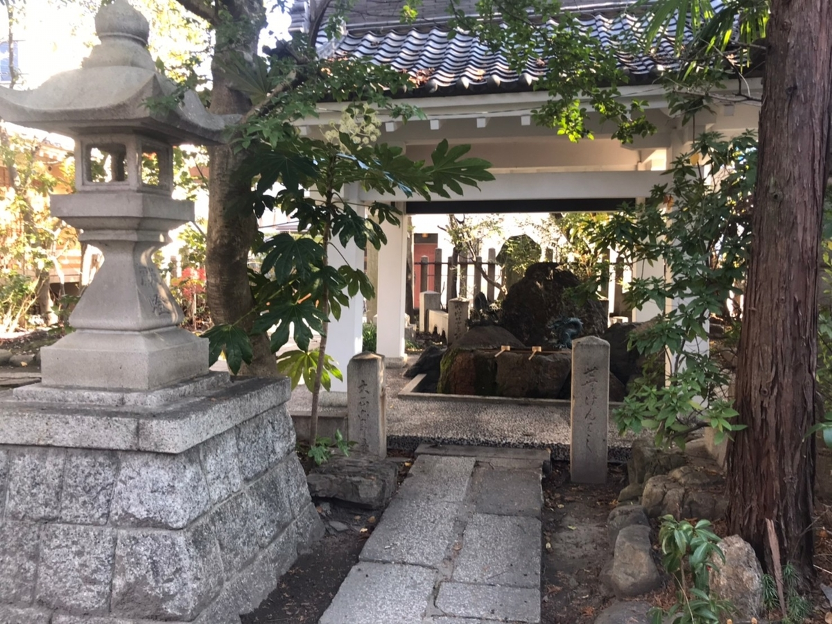 冨士浅間神社(名古屋市西区)の手水舎(てみずや)