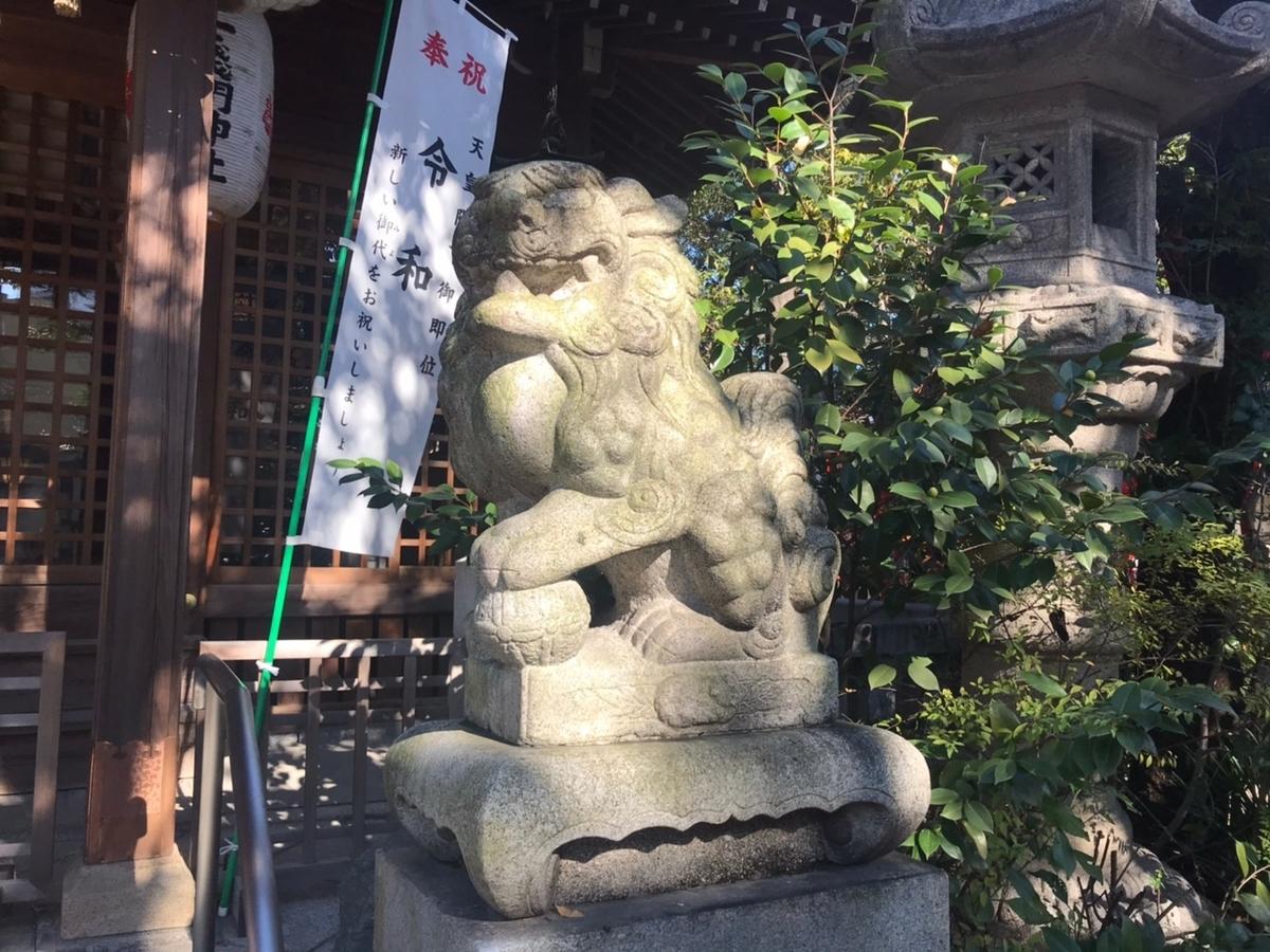 冨士浅間神社(名古屋市西区)の狛犬