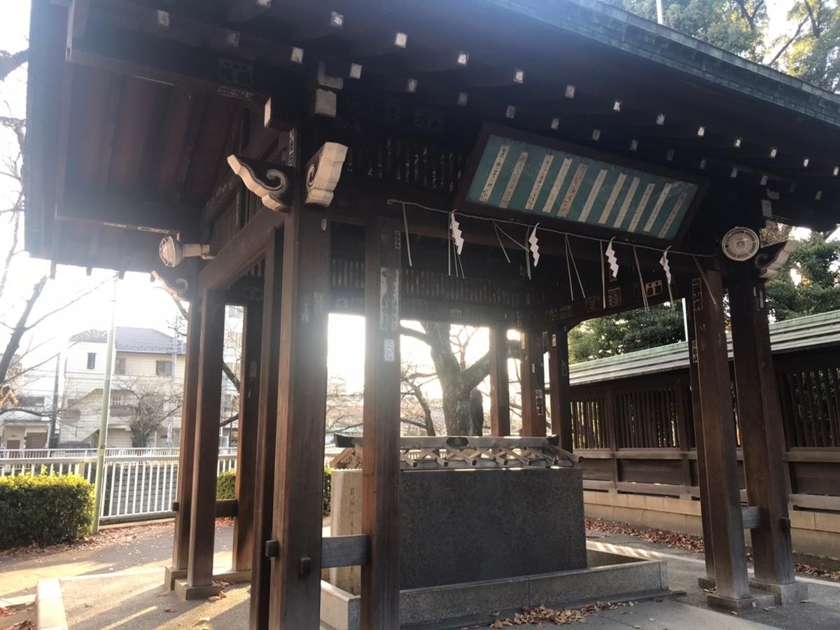 荏原神社の手水舎(てみずや)