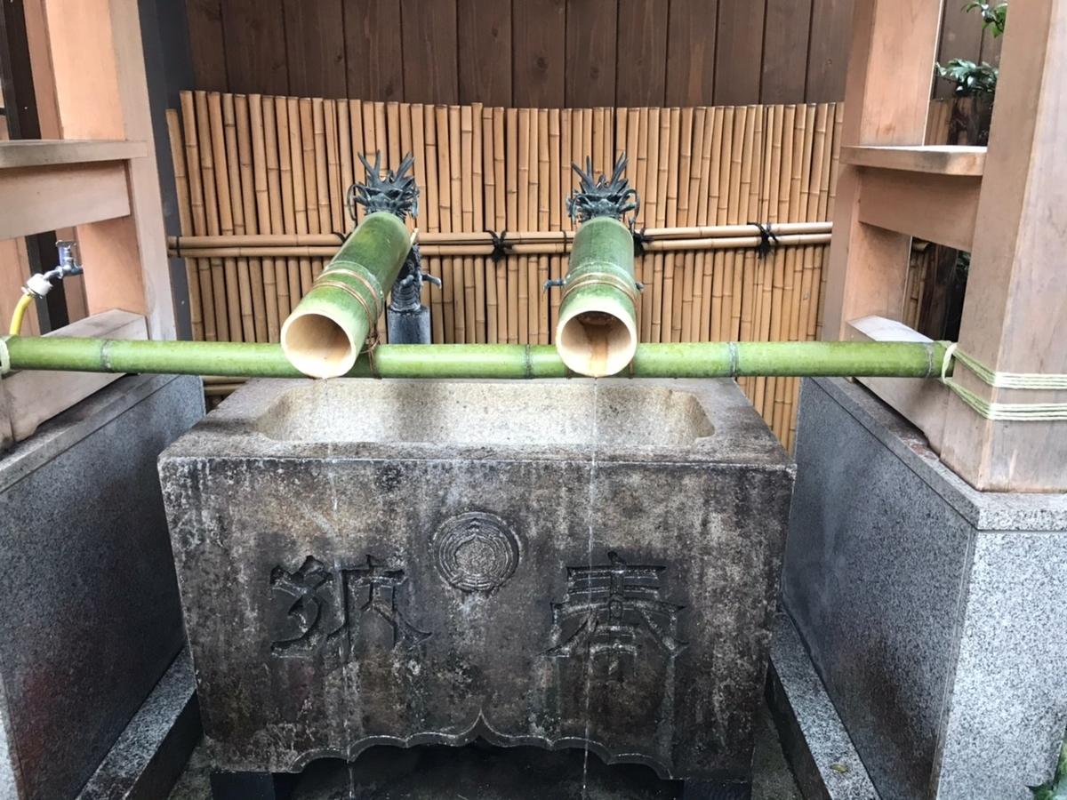 小網神社の手水舎(てみずや)