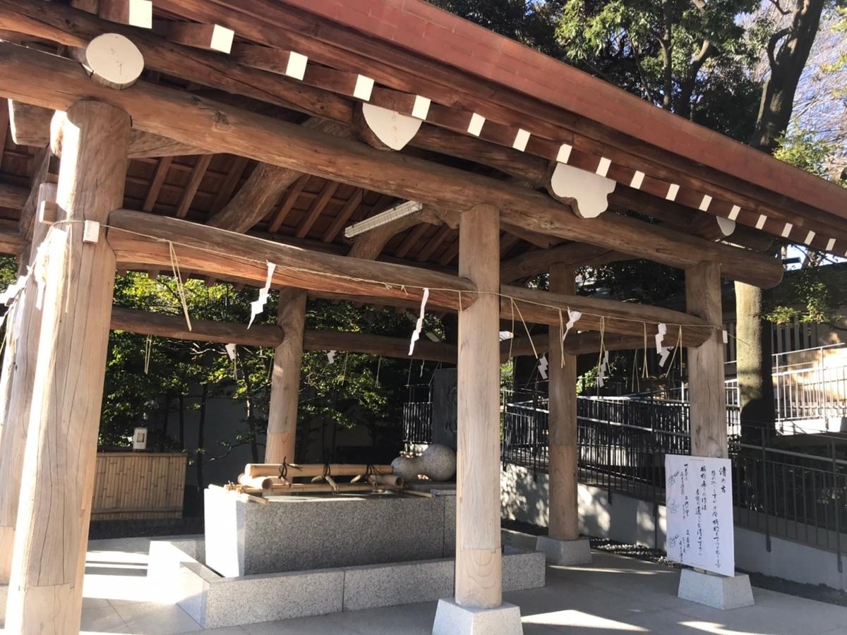 東郷神社の手水舎(てみずや)