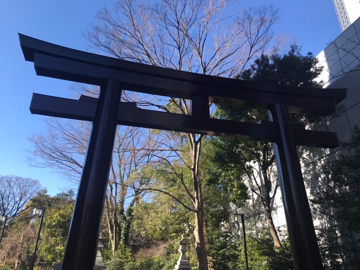 東郷神社の鳥居