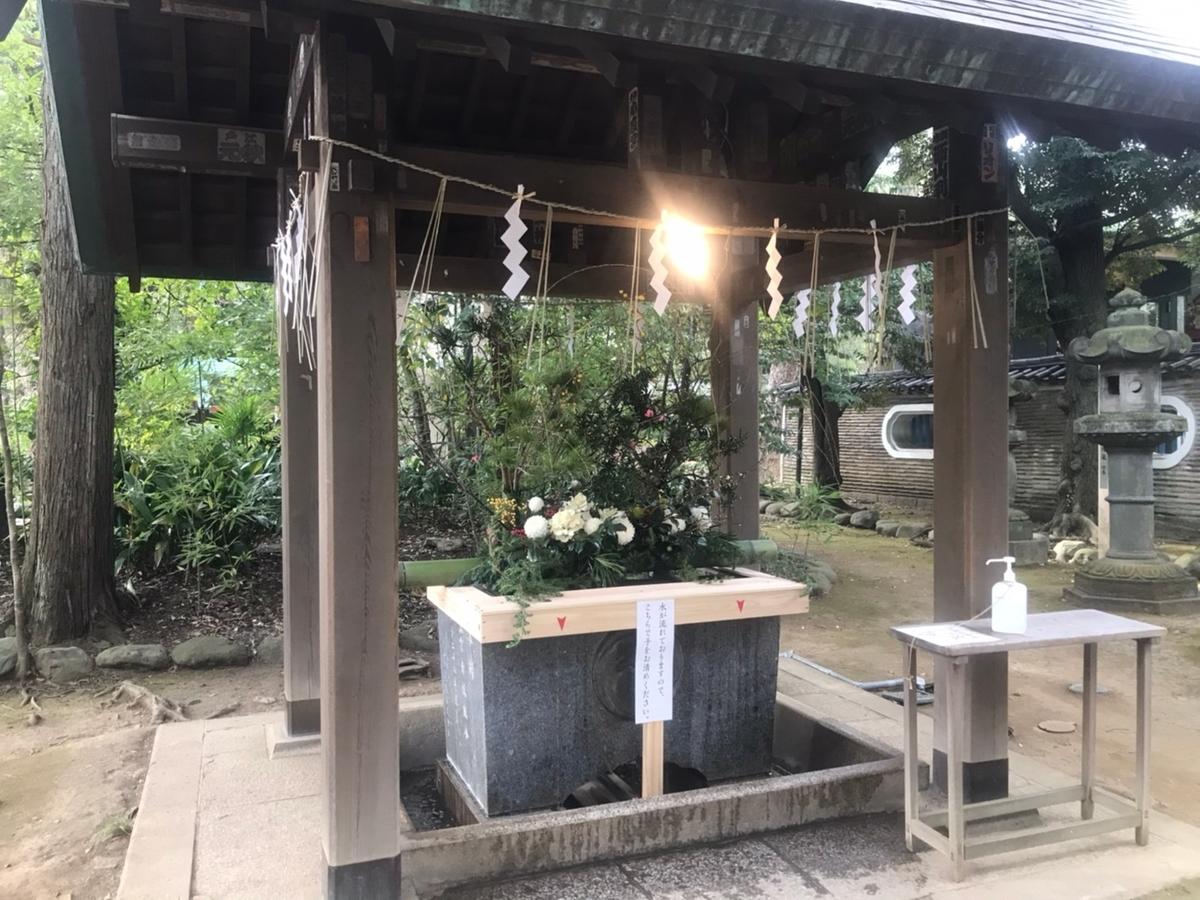 赤坂氷川神社の手水舎(てみずや)