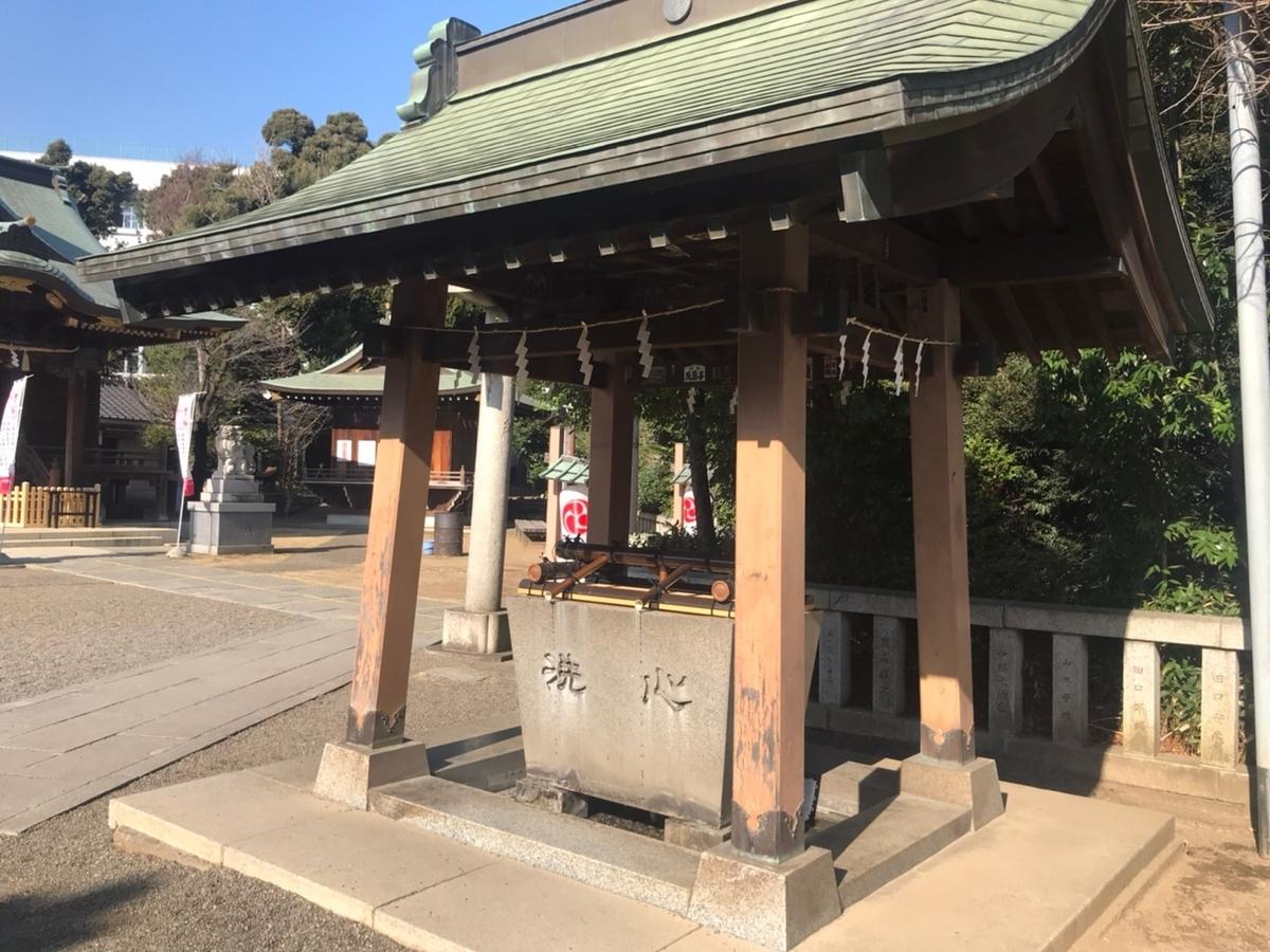 赤羽八幡神社の手水舎(てみずや)