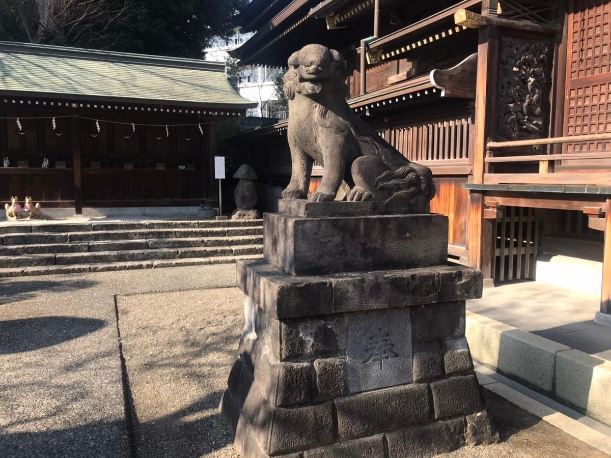 赤羽八幡神社の摂社の狛犬