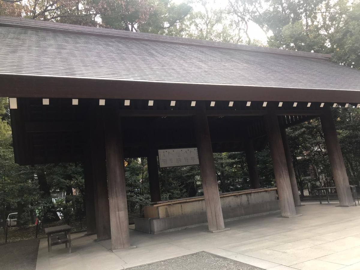 靖国神社の手水舎(てみずや)