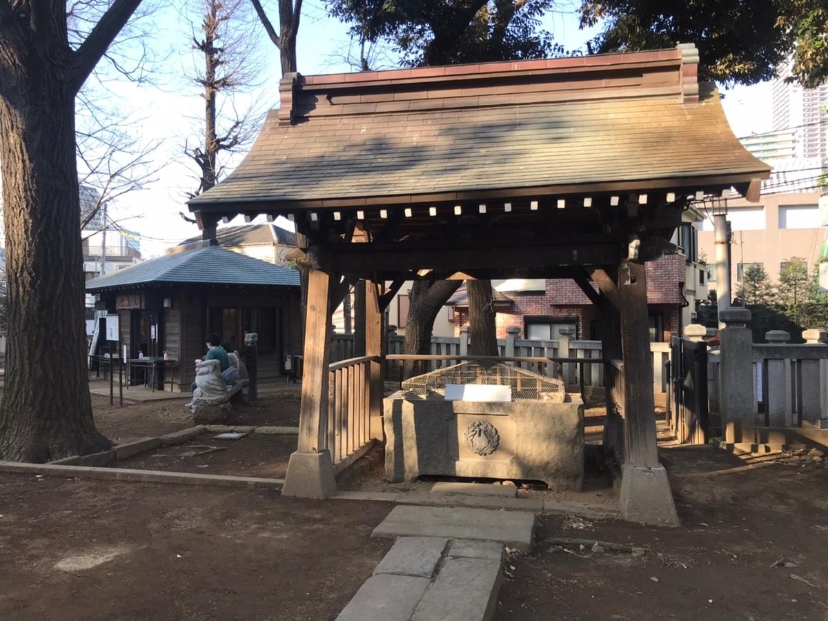 法明寺 雑司ヶ谷鬼子母神堂の手水舎(てみずや)