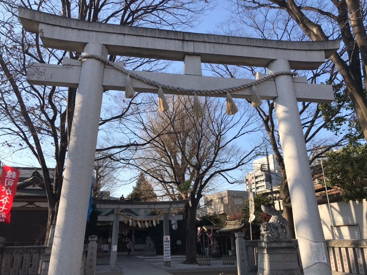 雑司ヶ谷大鳥神社の鳥居