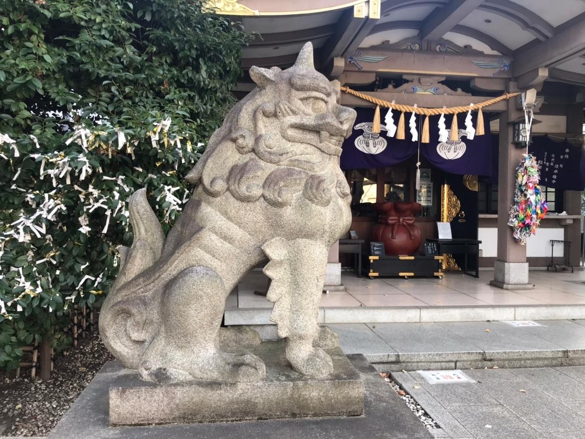 雑司ヶ谷大鳥神社の狛犬