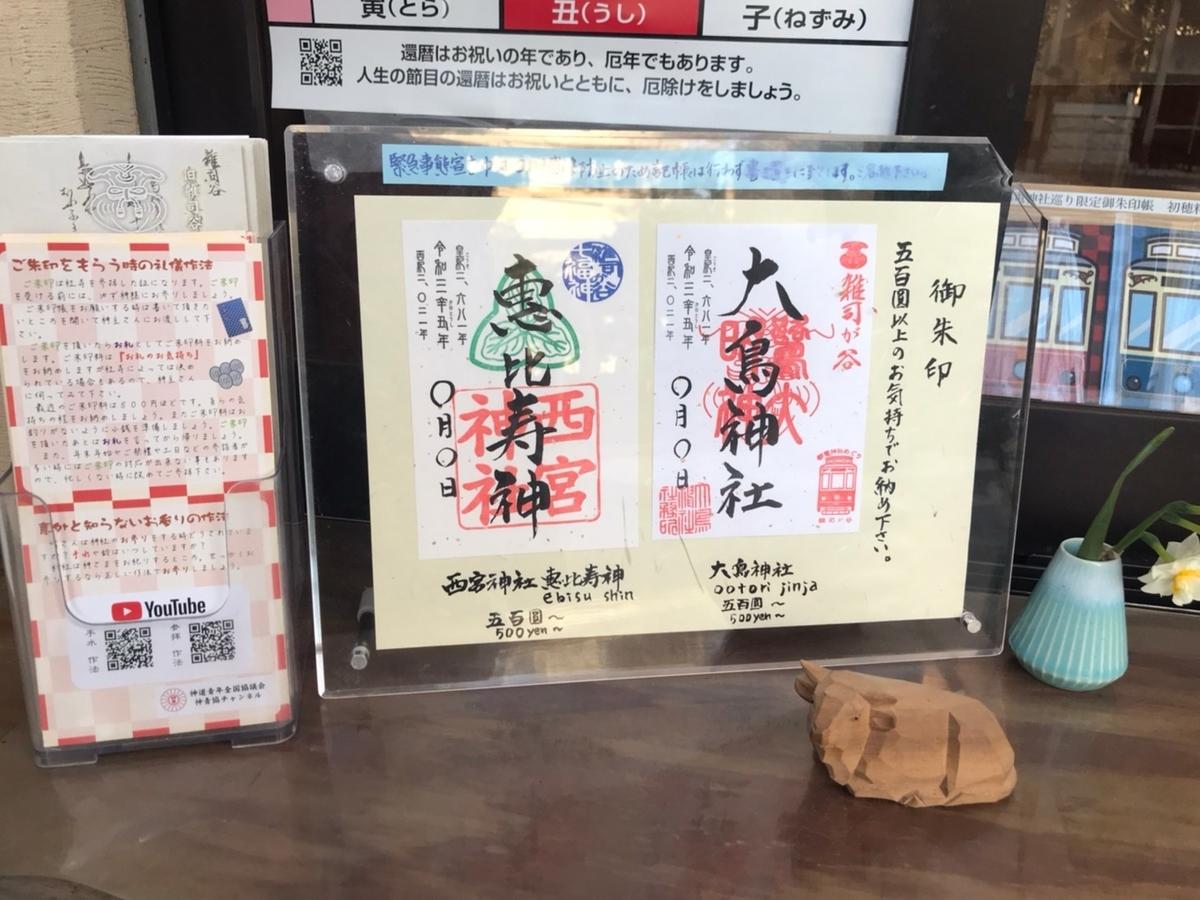 雑司ヶ谷大鳥神社の御朱印