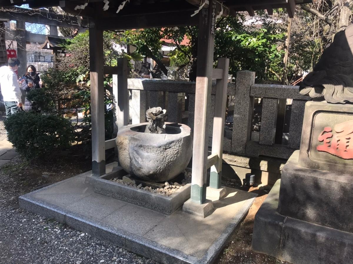 牛天神北野神社の手水舎(てみずや)