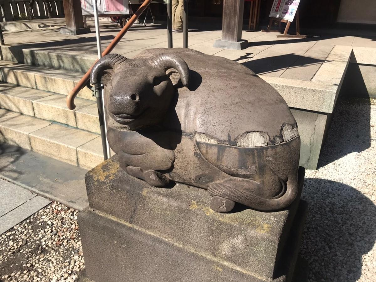 牛天神北野神社 撫で牛
