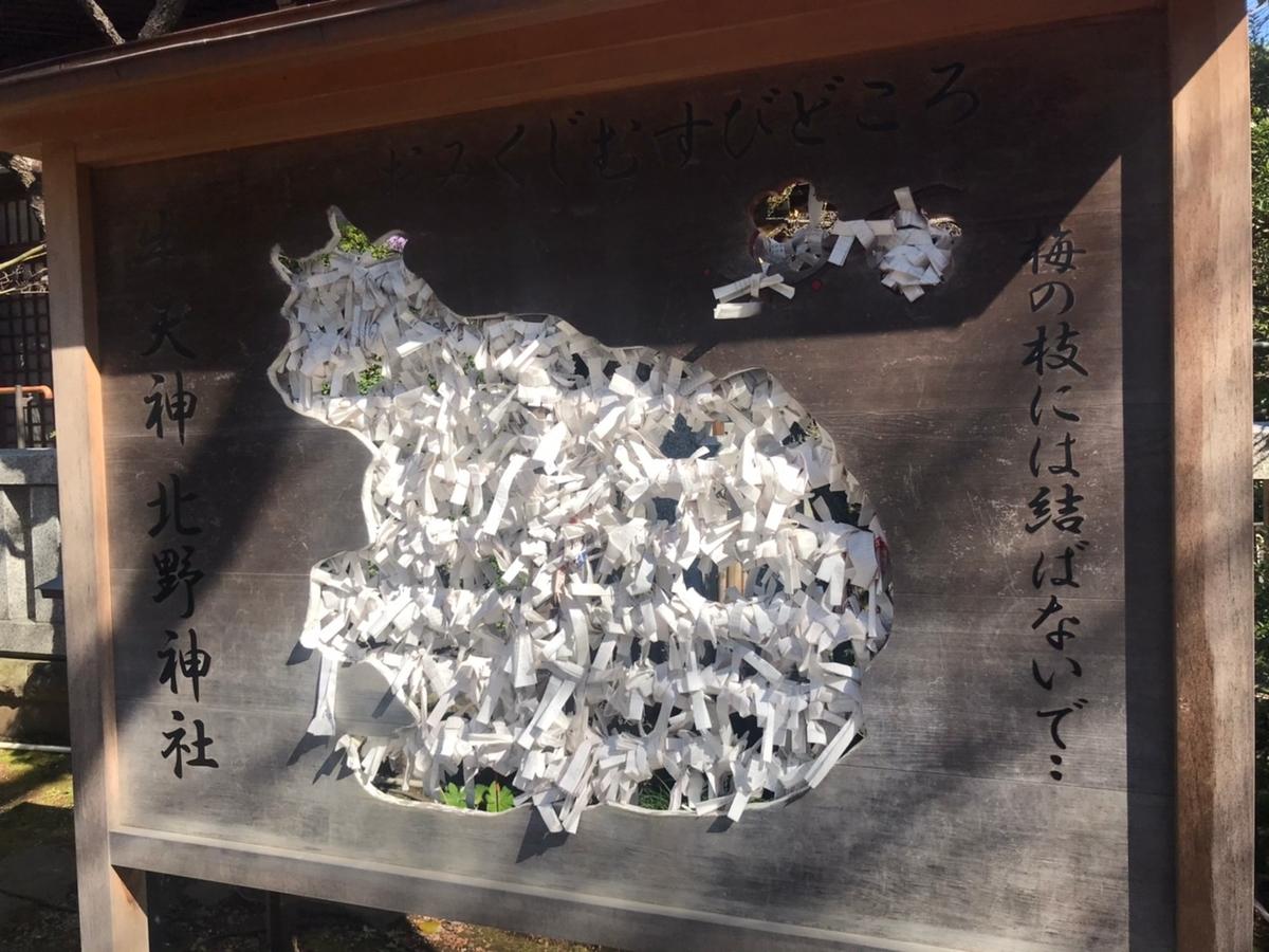 牛天神北野神社のおみくじの結びどころ