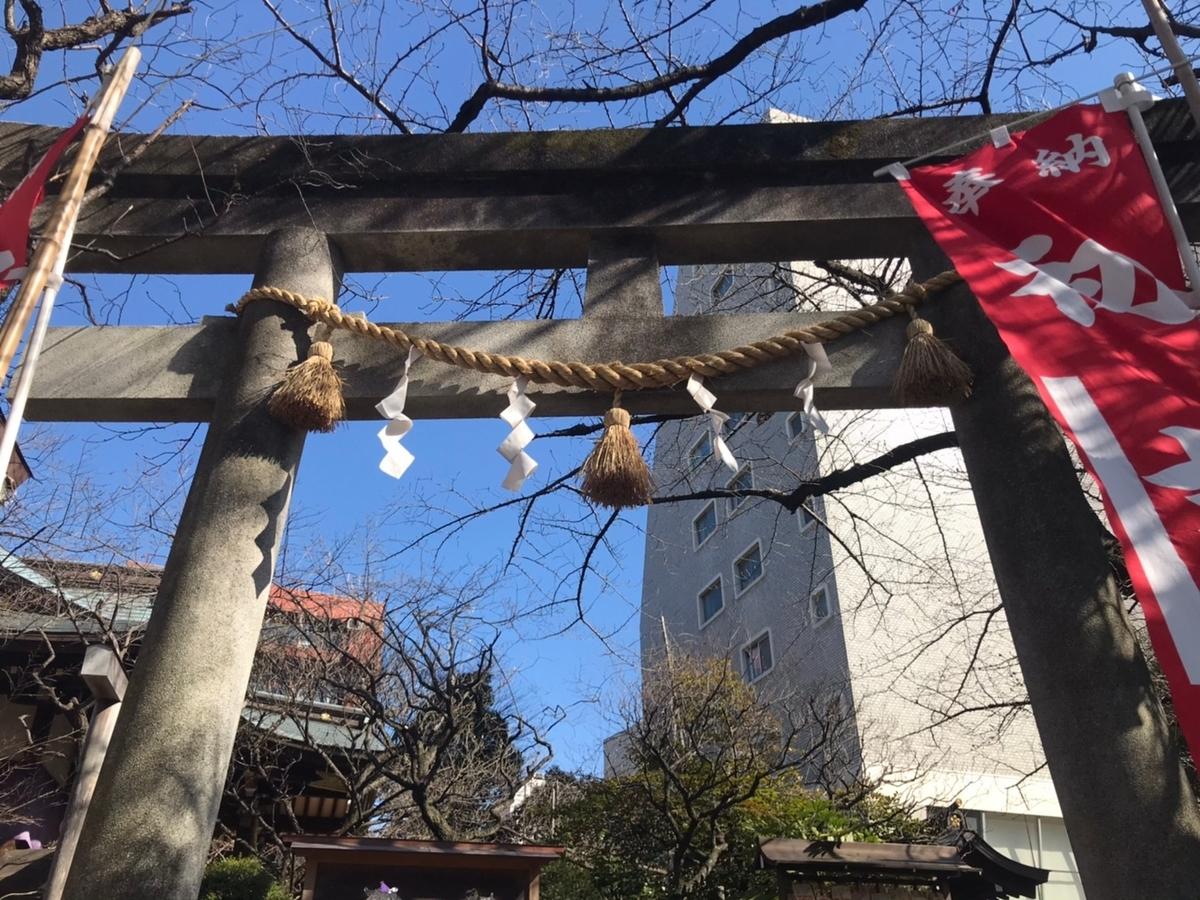 牛天神北野神社の鳥居