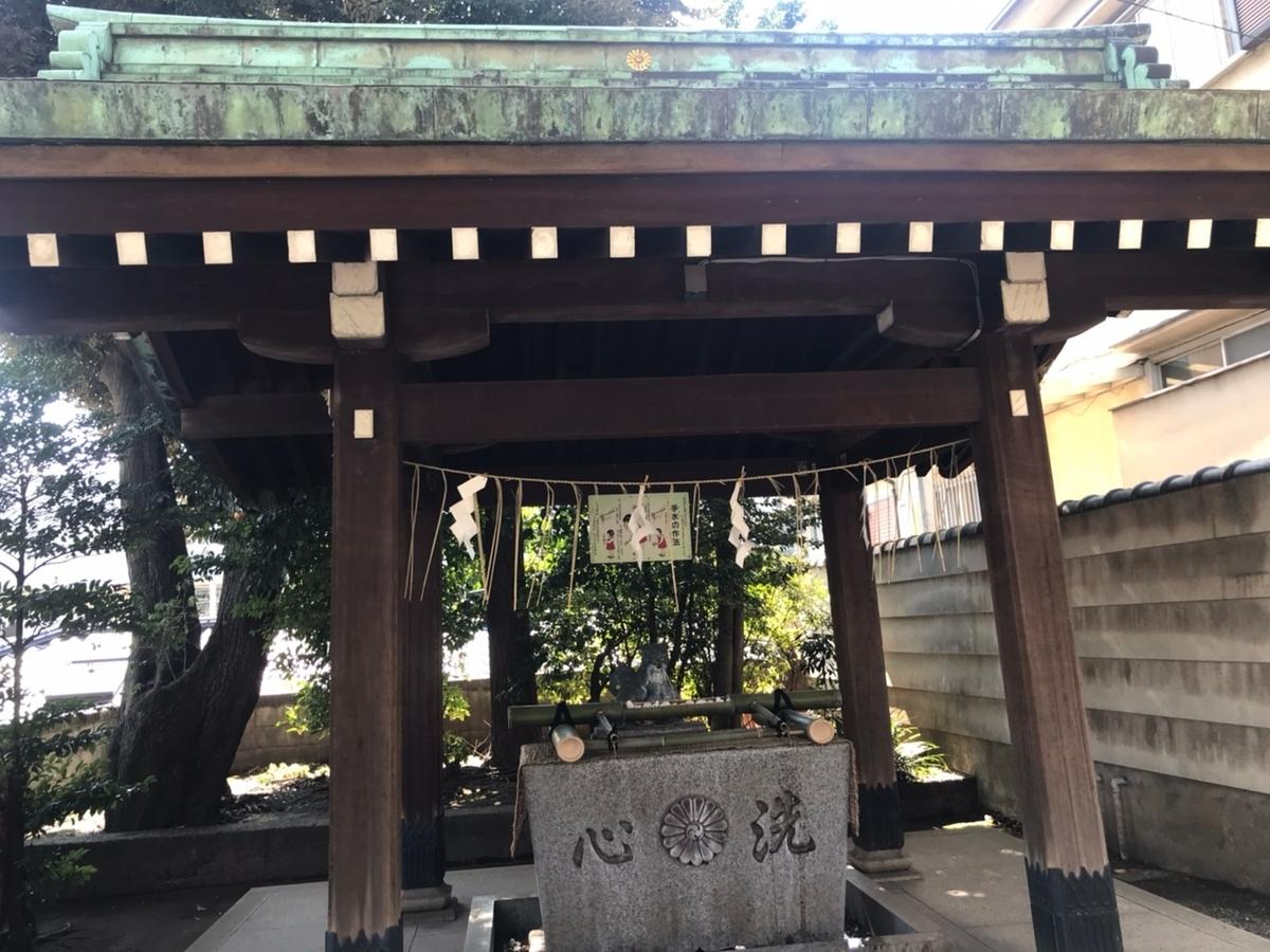居木神社の手水舎(てみずや)